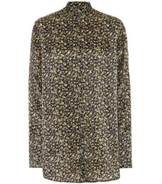 Victoria Victoria Beckham shirt printed shirt gold top