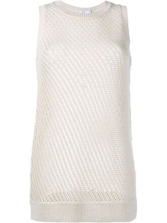 top sleeveless mesh nude
