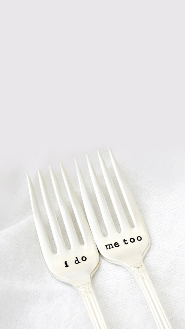 home accessory fork engravings kitchen love quotes wedding accessories dinnerware