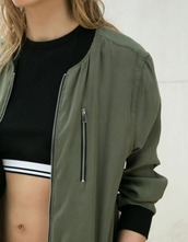 jacket,green,army green jacket,long sleeves,stylish,tumblr,fall jacket,bomber jacket