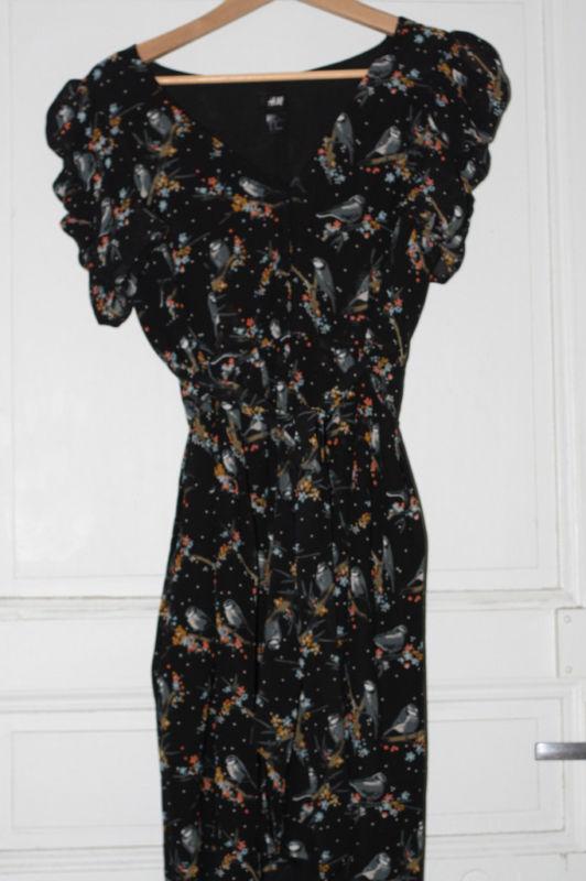 Robe motif oiseaux/mã©sanges h&m t40 vue dans glee