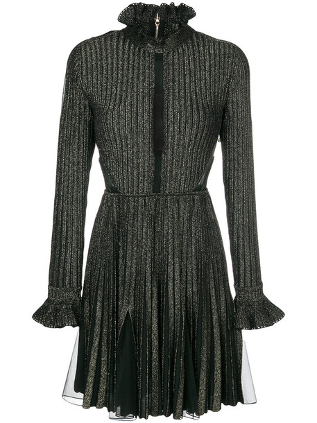 Elie Saab dress pleated women black knit
