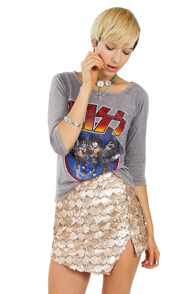 Flashing lights gold skirt · trendyish · online store powered by storenvy