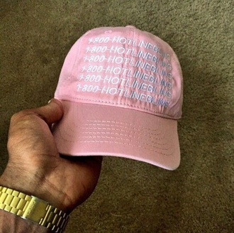 hat drake clothing pink