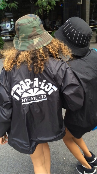 jacket trap wavy new york atlanta texas black and white bomber jacket