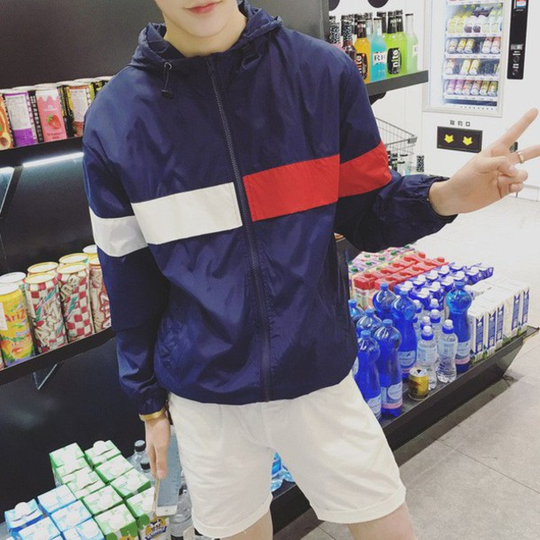 jacket tommy hilfiger windbreaker blue blue jacket tommy hilfiger tommy hilfiger jacket menswear mens jacket windbreaker ogv ogvibes