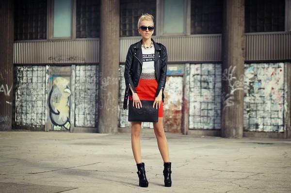 meri wild jacket shirt skirt belt bag jewels sunglasses shoes