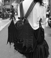 bag,backpack,creepy,bat bag,wings,batman,dark,cool,goth,black,bat,bat wings,emo,bat backpack,tokyo,tokyo fashion
