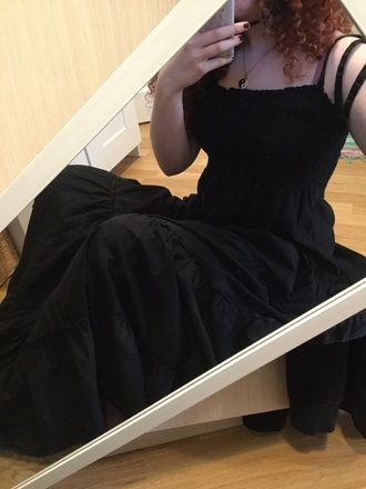 dress big detailed maxi dress lace black dress summer dress