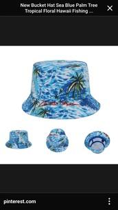 hat,pretty ocean blue,hair accessory,bucket hats