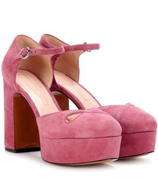 Marc Jacobs Suede plateau pumps in pink