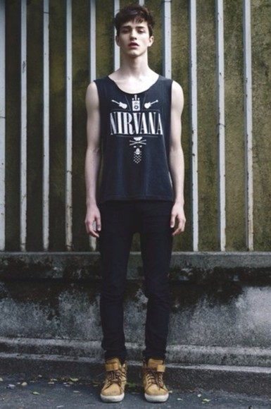 nirvana shirt band t-shirt blue/indigo tumblr tumblr shirt