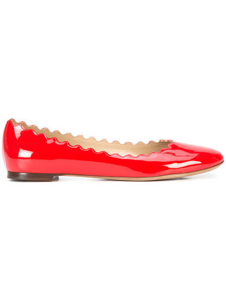 Chloe women shoes leather red