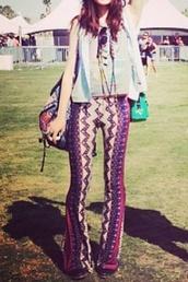 pants,70s style,patterned pants,patterned leggings,leggings,60s style,hippie,flare,purple,pink