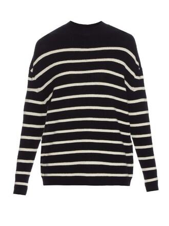sweater wool sweater wool white blue