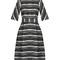 Dromio boat-neck striped dress