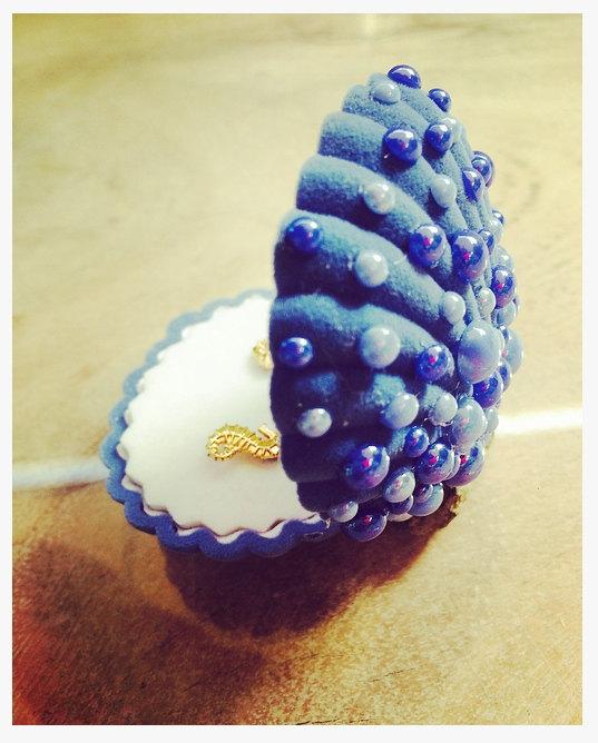 Boite à Bijoux Sirène - coquillages velours