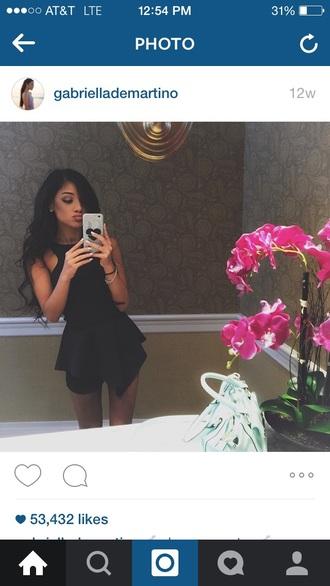 dress black cute