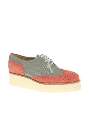 ASOS | ASOS - MACKIE - Chaussures plateforme à lacets style richelieu chez ASOS