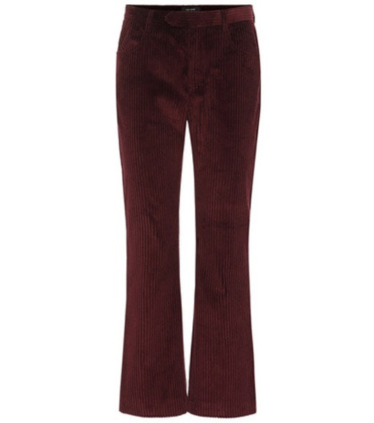 Isabel Marant Mereo high-rise flared pants in red