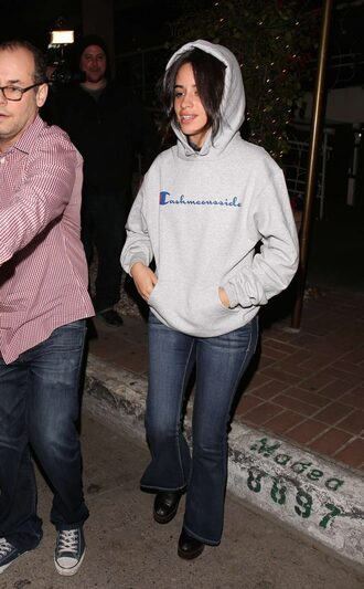 sweater hoodie jeans camila cabello
