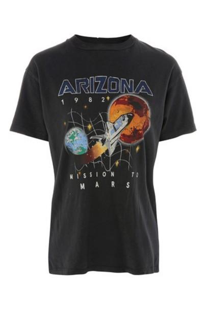 Topshop t-shirt shirt t-shirt space print black top