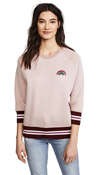 Anya Hindmarch sweatshirt rainbow rose sweater