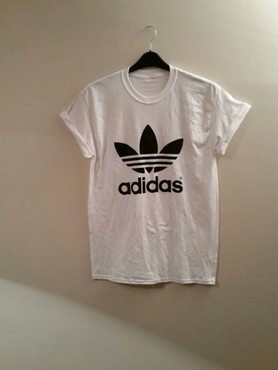 Brand new on trend adidas t/shirt top unisex mens medium womens 6/8/10/12 beachwear festival