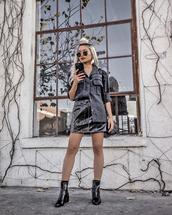 skirt,tumblr,mini skirt,black skirt,leather skirt,black leather skirt,boots,black boots,ankle boots,shirt,black shirt,sunglasses,all black everything