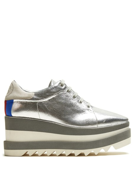 Stella McCartney leather silver shoes