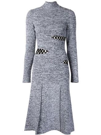 dress sweater dress grey