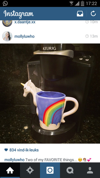 unicorn nail accessories mug