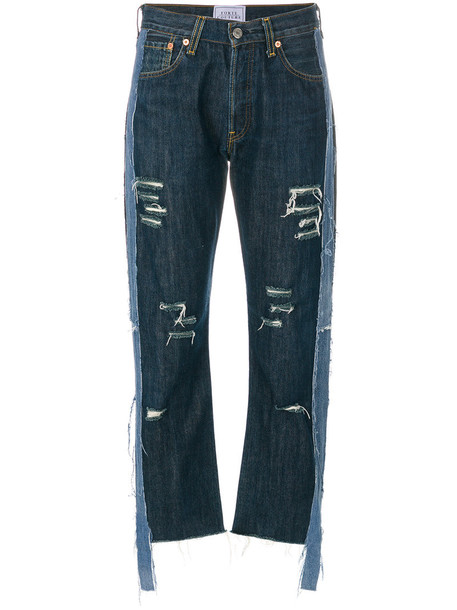 FORTE COUTURE jeans cropped jeans cropped women cotton blue