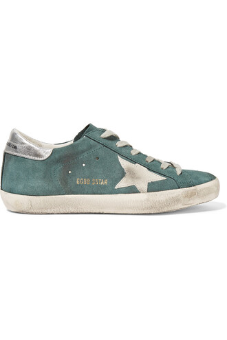 suede sneakers sneakers suede green shoes