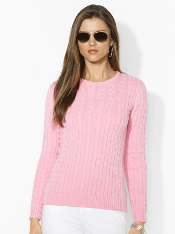 Cable-Knit Cotton Crewneck - Crewnecks & Tanks   Sweaters - RalphLauren.com