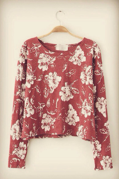 floral burgundy jumper fall outfits