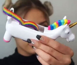 home accessory unicorn rainbow tape unicorn tape dispenser cute unicorn