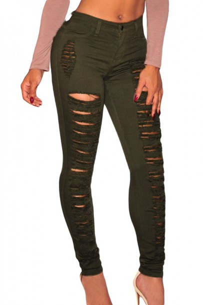 fd81ce1fc2aa jeans green army green army green jeans camo pants camouflage camo pants  sexy tight bodycon casual