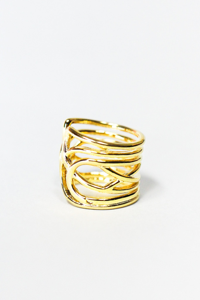 Gold Loop Ring | uoionline.com: Women's Clothing Boutique