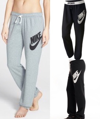pants nike grey black white shop