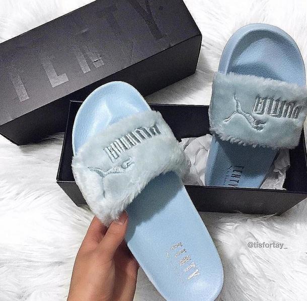 shoes fenty puma rihanna baby blue
