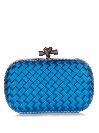 snake water clutch satin blue bag