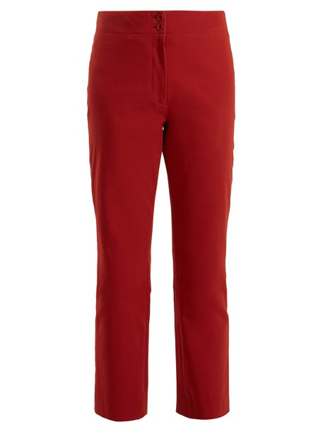 A.P.C. cropped cotton light red pants