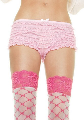 socks pink and white pink lace knee high socks fishnet and bows print