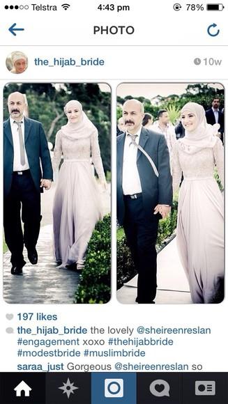 dress maxi purple long lace hijab hijab muslim cream