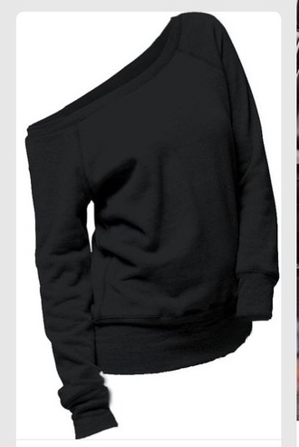sweater black off the shoulder sweater