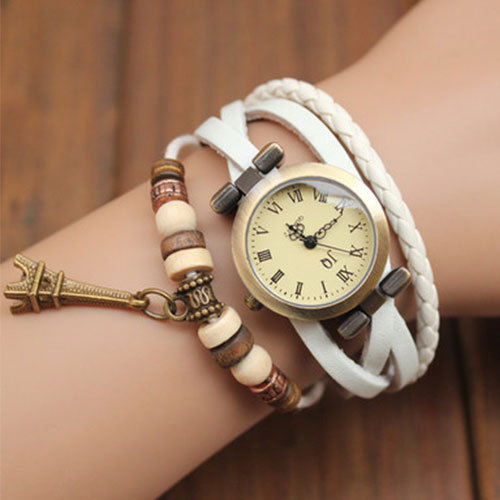[grxjy51500017]Men Gift Vintage Beaded Multistrand Bracelet Watch