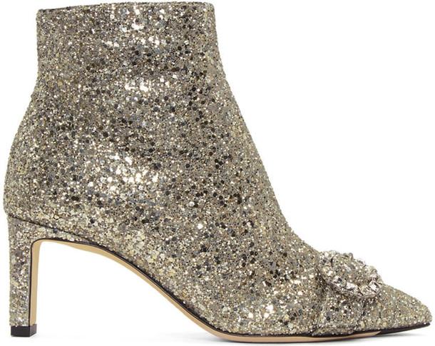 Jimmy Choo glitter silver silver glitter shoes