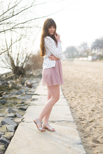andy sparkles blogger cardigan flat sandals pink dress