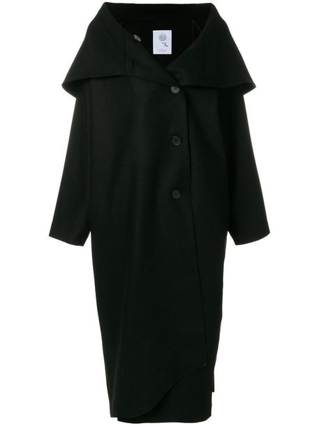 Boule De Neige coat oversized women spandex black wool
